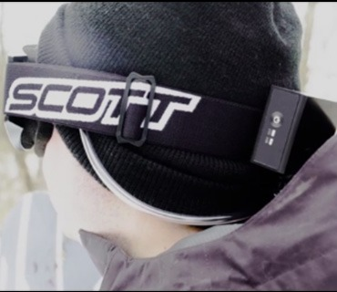 Exfog system worn over ski hat