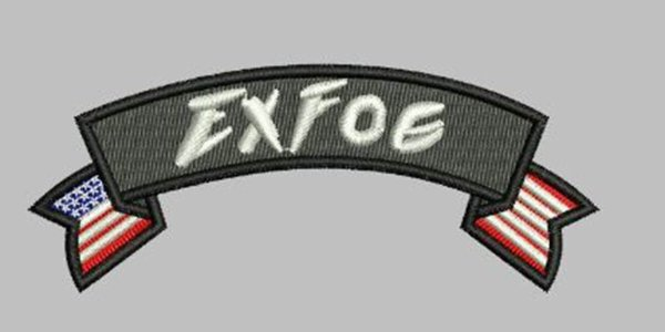 ExFog fabric patch with American flag design