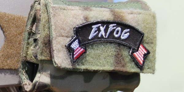 ExFog fabric patch with flag design