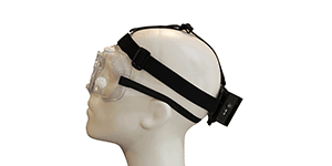 Exfog system traditional headband attachment