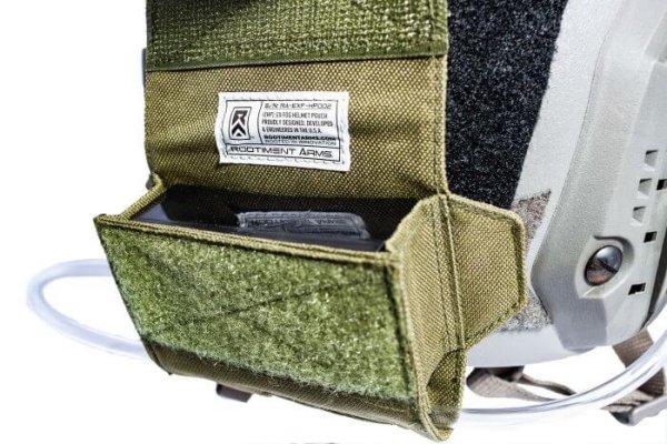 Green ExFog helmet pouch