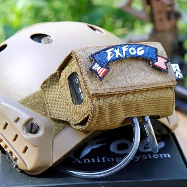 ExFog Antifog system on a helmet